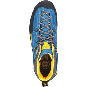 La Sportiva Boulder X Mid Kengät Miehet, blue/yellow